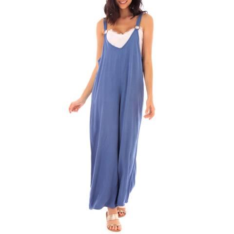 Fille de Coton Indigo Wide Cotton Jumpsuit