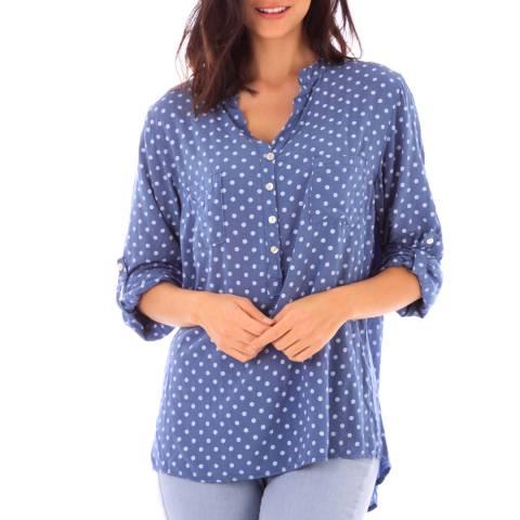 Fille de Coton Blue Polka Dot Cotton Shirt