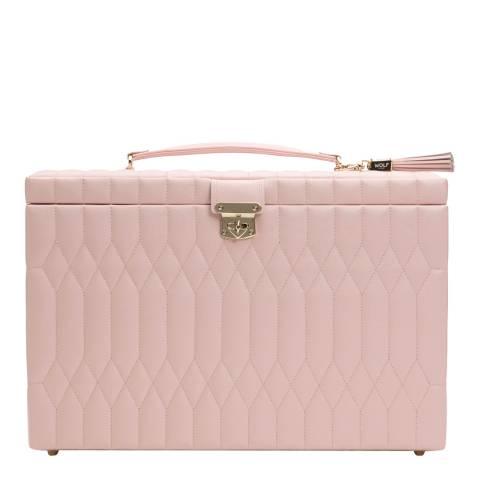 WOLF Rose Quartz Caroline Extra Large Jewellery Case