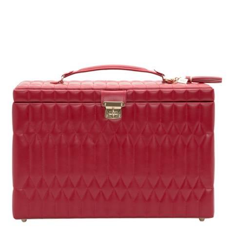 WOLF Red Caroline Extra Large Jewellery Case