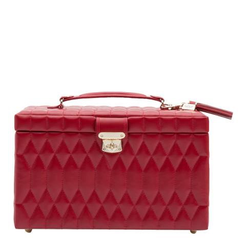 WOLF Red Caroline Large Jewellery Case