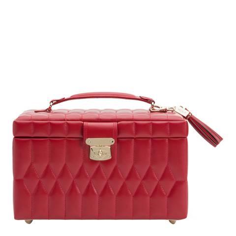 WOLF Red Caroline Medium Jewellery Case