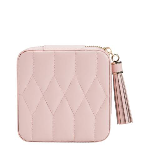 WOLF Rose Quartz Caroline Zip Travel Case