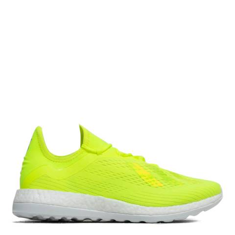Adidas Neon Yellow X18+ TR Performance World Cup Sneaker