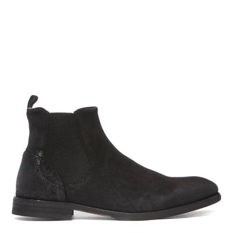 Hudson London Black Suede Watchley Chelsea Boots