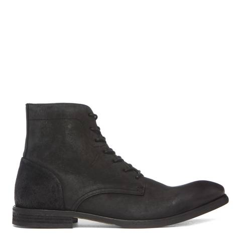 Hudson London Black Nubuck Yoakley Lace Up Boots