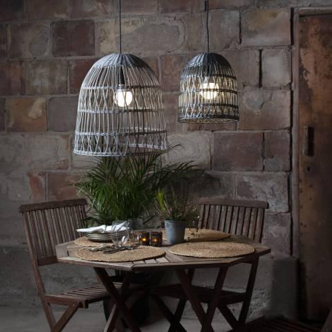Solar Editions Grey Rattan Lamp Shade 35cm