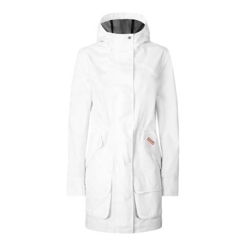 Hunter White Cotton Hunting Coat