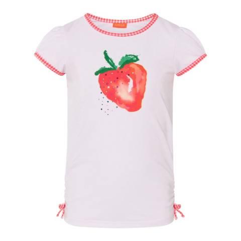 Sunuva Girls White Strawberry Crush Cap Sleeve Rash Vest