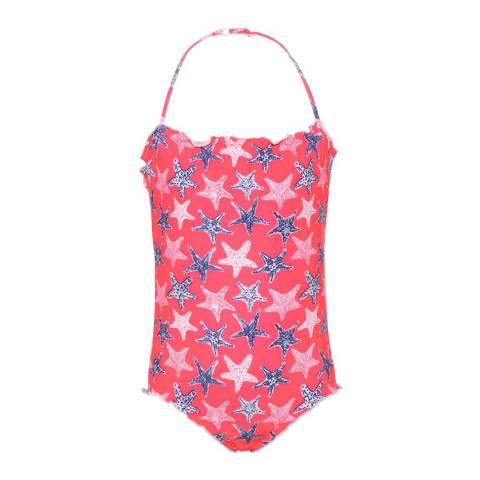 Sunuva Girls Neon Pink Starfish Swimsuit