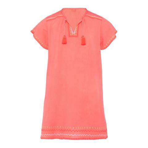 Sunuva Girls Pink Cheesecloth Dress