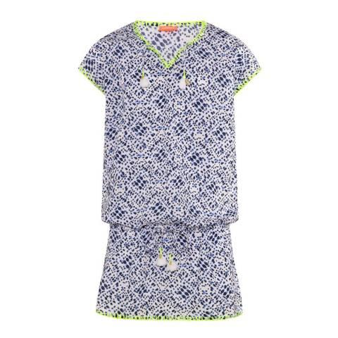 Sunuva Girls Blue Shibori Kaftan Dress