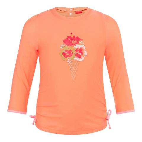 Sunuva Baby Girls Orange Tropical Classic Rash Vest