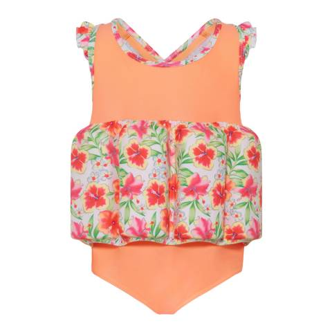 Sunuva Girls Orange Tropical Floatsuit