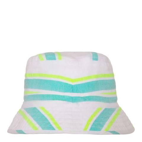 Sunuva Girls Aqua Multistripe Canvas Hat