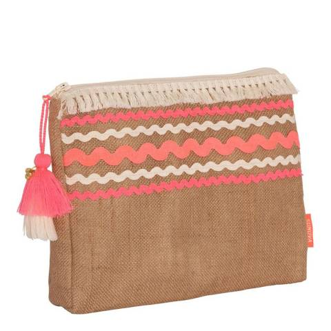 Sunuva Girls Pink Rick Rack Washbag