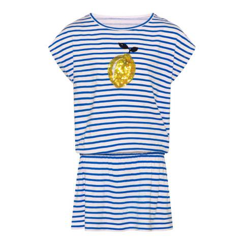 Sunuva Girls Blue Sicilian Lemon Jersey Dress