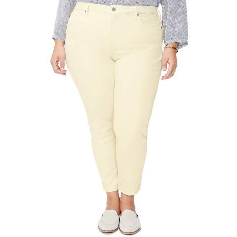NYDJ Yellow Ami Skinny Cropped Curve Jeans