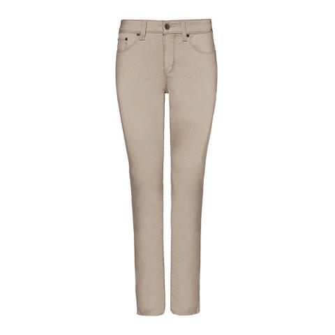 NYDJ Beige Sheri Slim Jeans