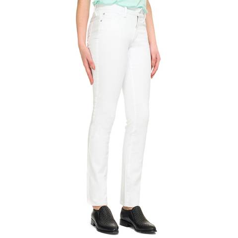 NYDJ White Sheri Slim Stretch Jeans