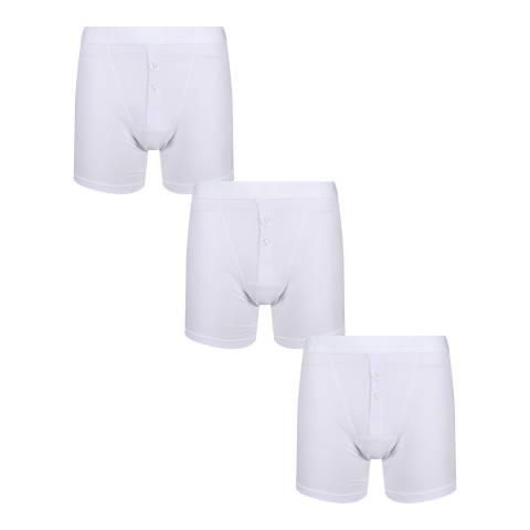 Pringle White 3 Pack Boxer Shorts