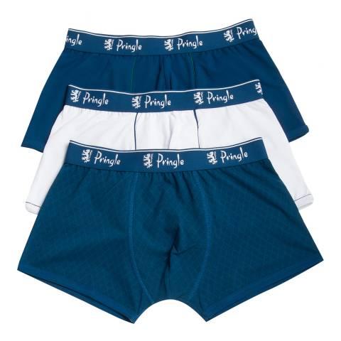 Pringle Blue/white 3 Pack Boxer Shorts