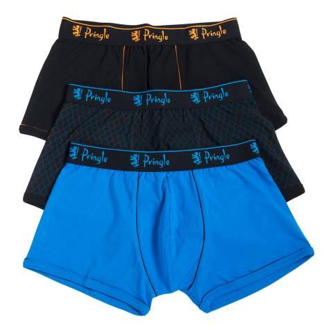 Pringle Multi Blue/Black 3 Pack Boxer Shorts