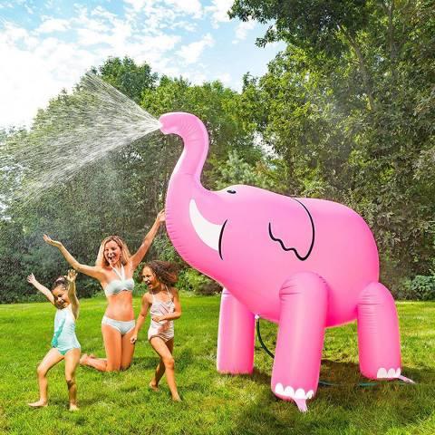 BigMouth Pink Elephant Garden Sprinkler 7ft