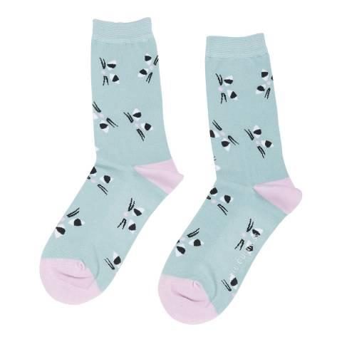 Lulu Guinness Aqua Kooky Cat Ankle Socks