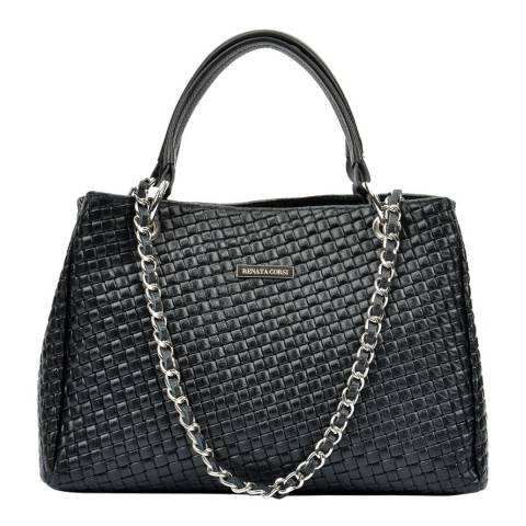 Renata Corsi Black Leather Shoulder Bag