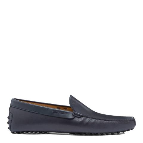 Tod's Blue Leather Pant Gommini Loafers