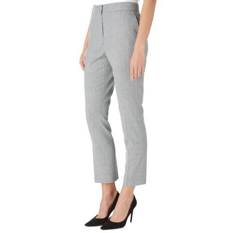 Reiss Blue/White Hampstead Tailored Trousers