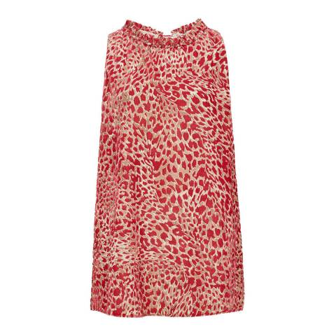 Reiss Red Linnea Halterneck Top