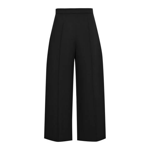 Reiss Black Nara Wide Leg Trousers