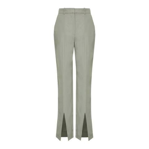 Reiss Green Jae Wide Leg Trousers