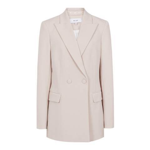 Reiss Cream Long Lined Jacket
