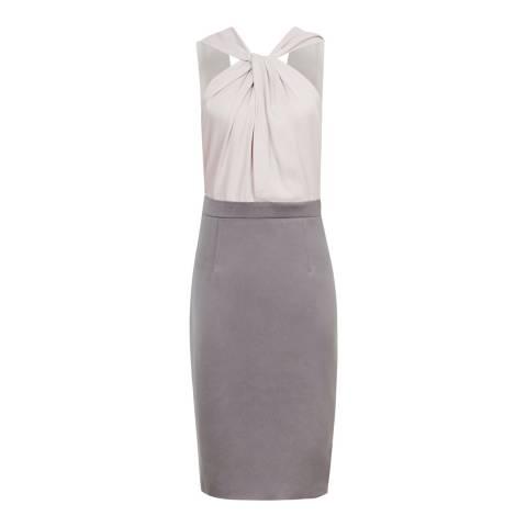 Reiss Ash Pink Maisie Contrast Dress