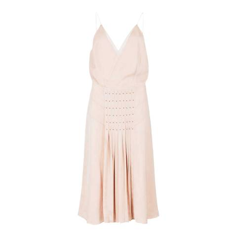 Reiss Pink Daria Eyelet Dress