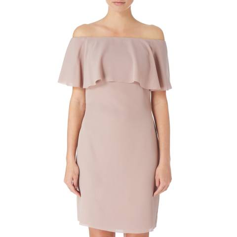 Reiss Dusy Pink Balm Barot Dress