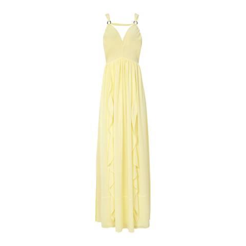 Reiss Yellow Carlotta Stappy Maxi Dress