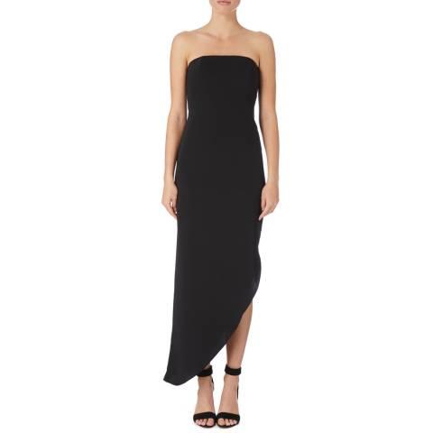 Reiss Black Rima Asymmetric Dress