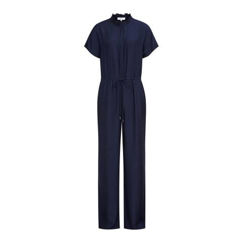 Reiss Navy Marienella Jumpsuit