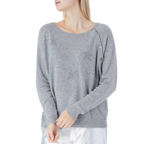 N°· Eleven Grey Cashmere Pointelle Star Jumper