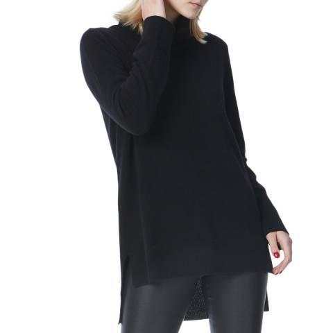 N°· Eleven Black Cashmere Roll Neck Tunic