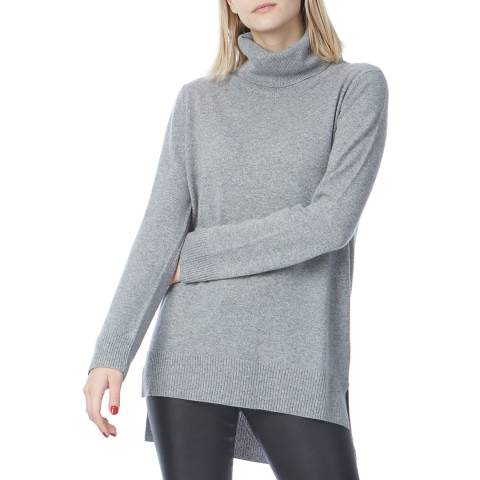 N°· Eleven Grey Cashmere Roll Neck Tunic