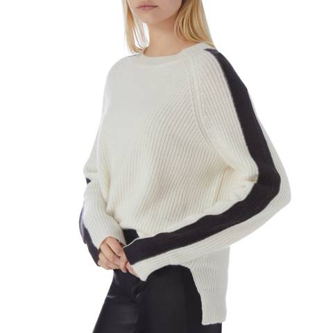 N°· Eleven Cream Cashmere Irongate Stripe Sleeve Jumper