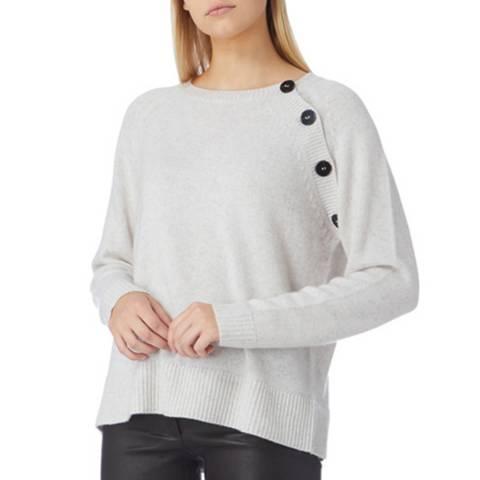 N°· Eleven Cream Cashmere Button Jumper