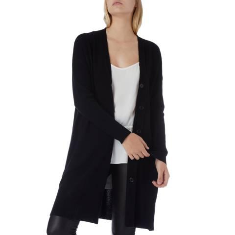 N°· Eleven Black Cashmere Blend Longline Cardigan