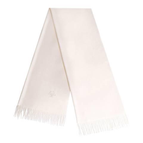 JayLey Collection Cream Cashmere Silk Blend Scarf