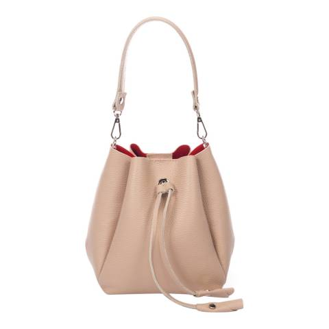 Giorgio Costa Taupe Top Handle Bucket Bag